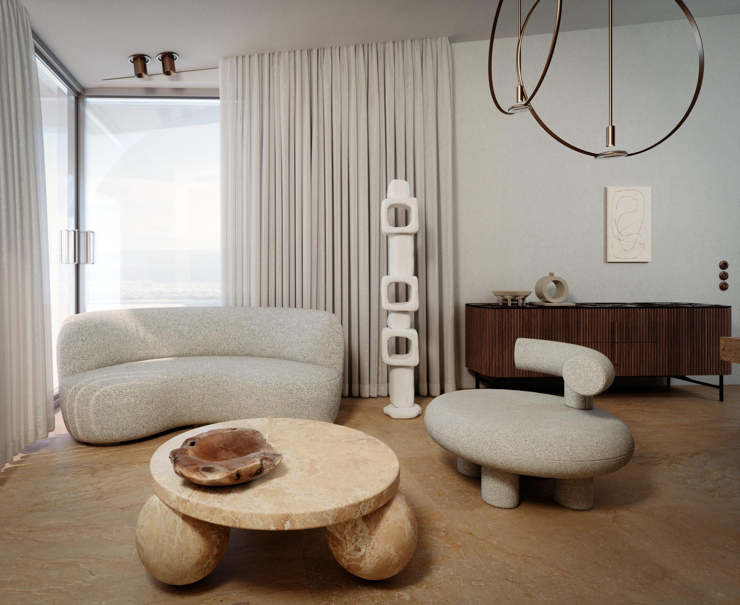eclectic interior apartment